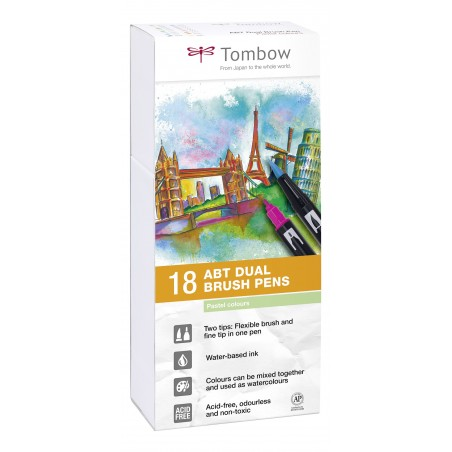 Set 18 Tombow ABT Colores Pastel