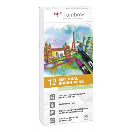 Set 12 Tombow ABT Colores Pastel